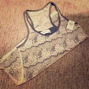 Brand new Abercrombie and Fitch lace tank top